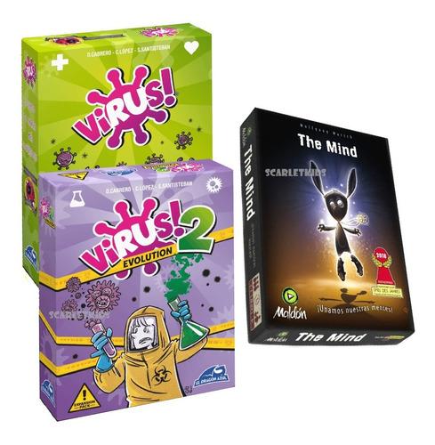 The Mind + Virus Juego De Mesa Maldon Scarlet Kids