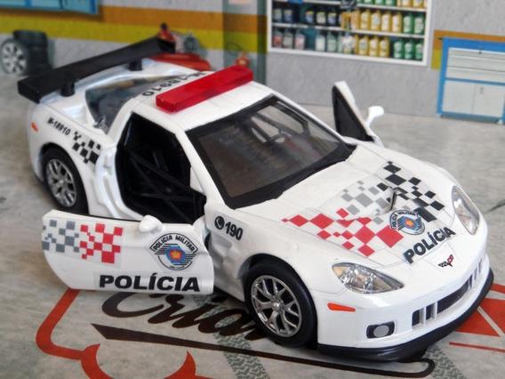 Miniatura Corvette C6-r Polícia Militar Pm Sp - Atual