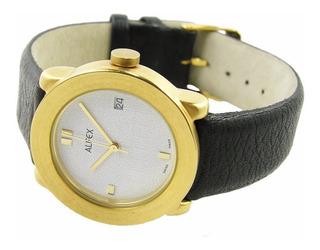Reloj Alfex Of Switzerland Moments Quartz. Caja Enchapada