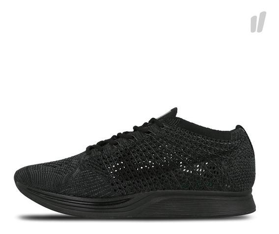 Tenis Hombre Nike Flyknit Racer Triple Negro Black