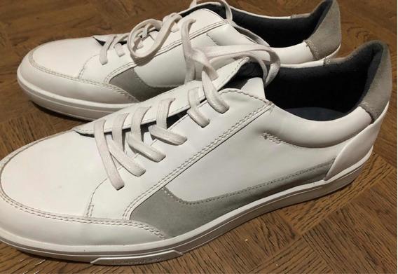 Tenis Calvin Klein Blancos Con Gris