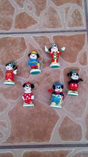 Adornos Navideños Mickey Mouse De Porcelana 7.5 Cms Alto¡¡¡¡