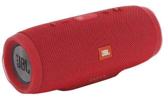 Caixa Bluetooth Jbl Charge 3 Vermelha Prova D