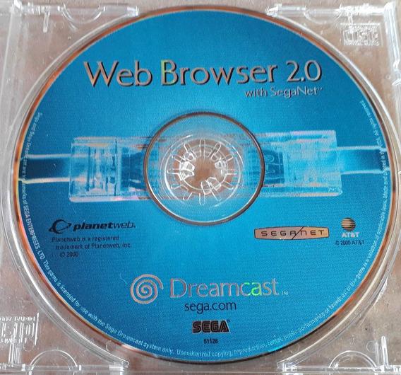 Cd Web Browser 2.0 With Seganet Dreamcast Origi Frete Grátis