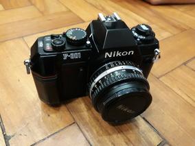 Corpo Câmera Nikon F301 Semi Automática Em Perfeito Estado