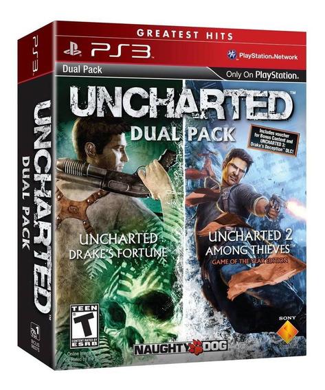 Uncharted Dual Pack 1, E 2 Ps3 Mídia Digital