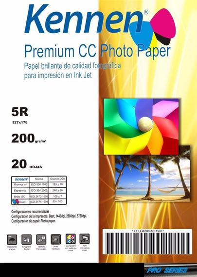 Papel Foto 13x18 Kennen Premium 200 Hojas