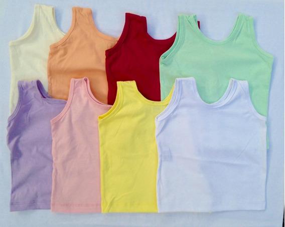 Pacote Com 10 Camisetas Regatas Para Bebê 100% Alg. (p,m,g)
