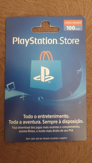 Cartão Ps Store Psn R$100