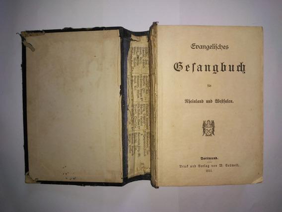 Hinário Gesangbuch Em Alemão Gótico - Antigo E Raro De 1911