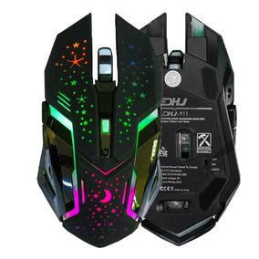 Mouse Gamer 3200dp Iluminação Led Rgb Sem Fio Dhj-911 Full