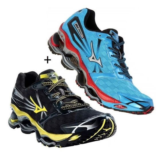 Tenis Mizuno Wave Prophecy Pro 2 Corrida Kit Com 2 Pares