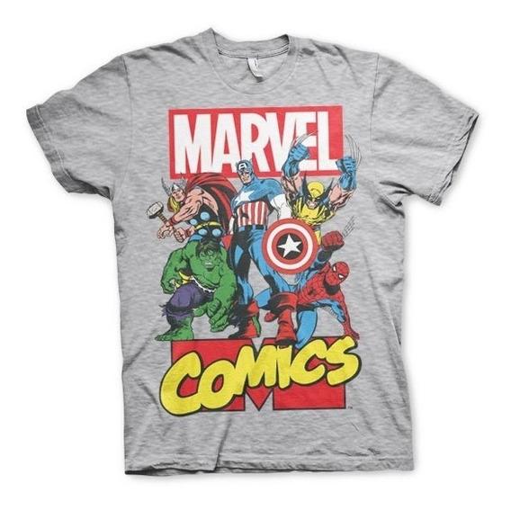 Envío Gratis Camiseta O Playera Marvel Comics Avengers Super