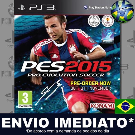 Pes 2015 Pro Evolution Soccer 15 Ps3 Psn Dublado Português