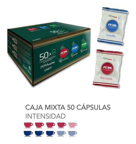 Imagen 1 de 1 de Caja 50 Cápsulas Café Nespresso Pera Crema Bar Y Dolce Aroma