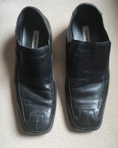 Sapato Steve Madden Social Mocassim Couro Preto 41 Usado