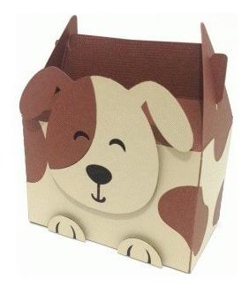 Caixa Box Cute Cachorro - Arquivo Silhouette