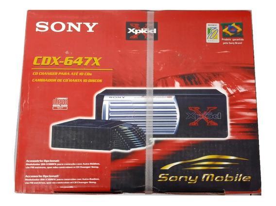 Disqueteira + Modulador Sony Cd Changer Para 10 Cds - Novo