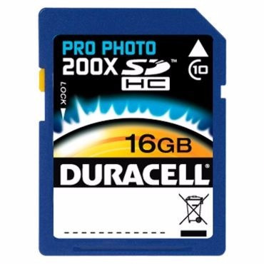 Cartão De Memória Sdhc Pro Photo 200x Classe10 16gb Duracell