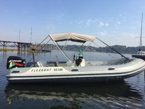 Barco Bote Lancha Flexboat Sr500 Motor Popa 90hp Carreta Rod