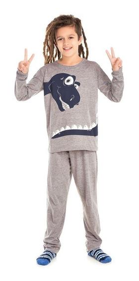 Pijama Infantil Bicho Bagunça Dinossauro