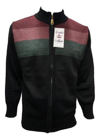 Suéter Negro Cierre Completo
