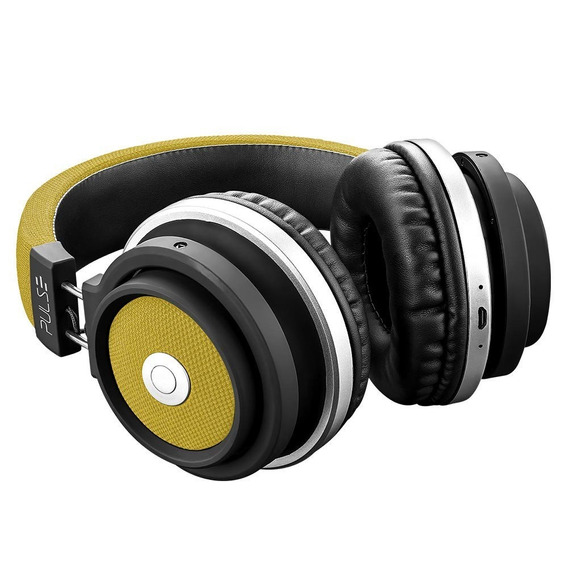 Headphone Bluetooth Pulse Preto E Amarelo Ph233 Promoção