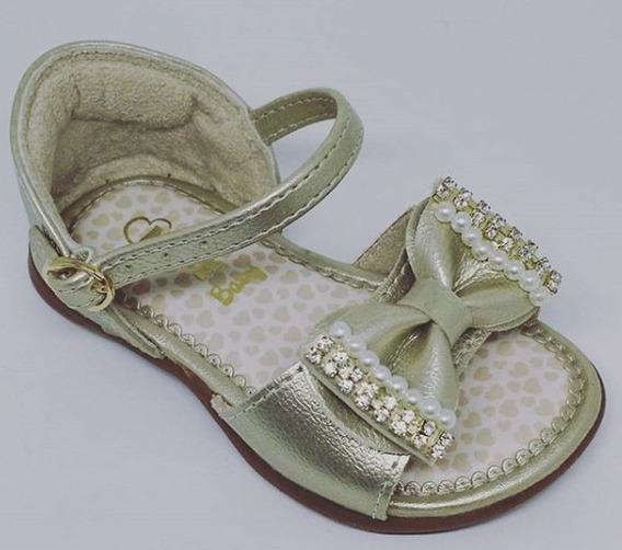 Sandália Infantil Kidy Baby Equilíbrio - Ouro Ref. 002061809
