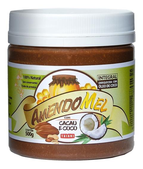 Pasta De Amendoim Amendomel 500g Chocolate Branco Sem Açúcar