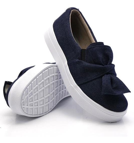 Tenis Casual Jeans De Laço(maravilhoso)