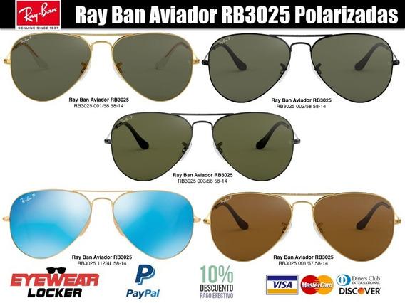 Gafas Ray Ban Aviador Polarizadas 100% Originales
