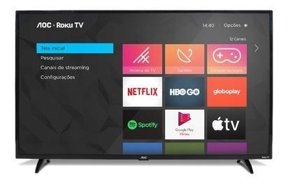 Smart Tv Aoc Roku Led 32 32s5195/78 Com Wi-fi, Controle