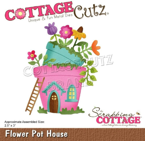 Cottage Cutz Dies Flower Pot House