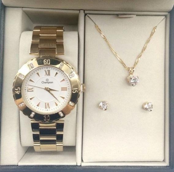 Relógio Champion Feminino Cn29534w + Brinde