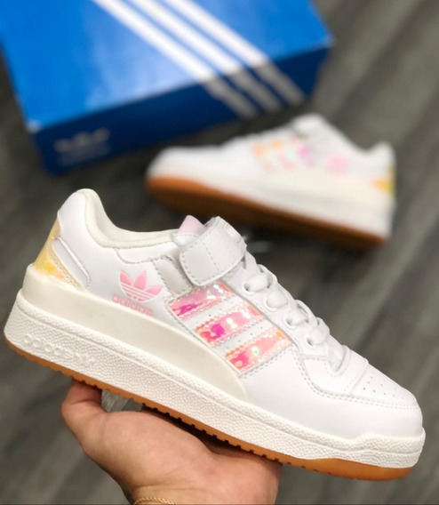 28 Usa El Adidas Zapatillas Niña Xl Talla Forum Tennis Lo