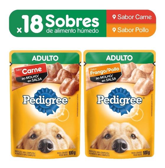 Alimento Perro Pedigree Sobre Adulto Carne (9un)+pollo(9un)