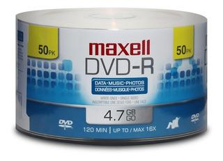 50 Dvd-r Maxell Nuevos No Imprimibles