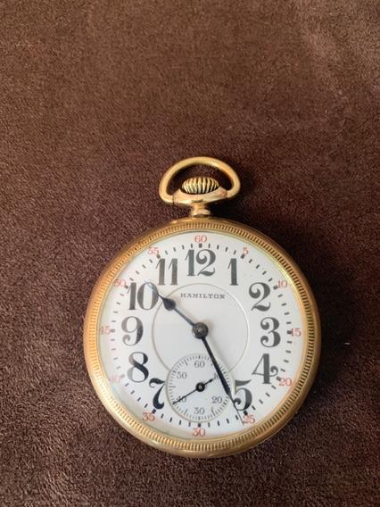 Reloj De Bolsillo Hamilton Tipo Ferrocarrilero