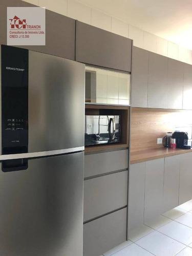 Apartamento Com 2 Dormitórios À Venda, 67 M² Por R$ 426.000 - Parque Das Nações - Mobiliado - Ap3115