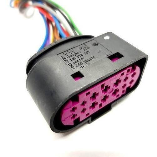02 Plug Conector Para Farol Xenon Jetta Audi A3 A4 Q3