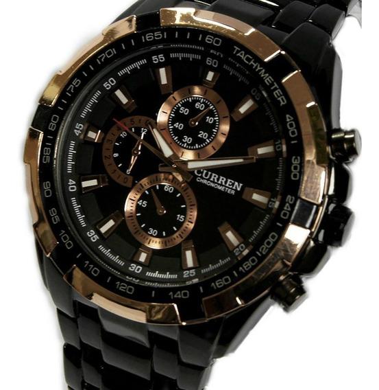 Relógio Masculino Curren 8023 Original Luxo Aço Inoxidável
