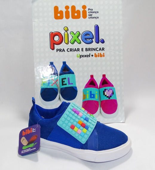 Tênis Infantil Bibi Menino Pixel - Azul - 1075003