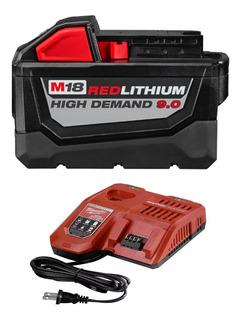 Batería Milwaukee 18v Hd 9.0 Ah Litio 48-3959 Y Cargador
