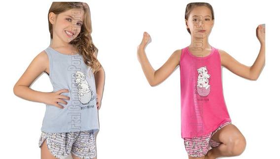 Pijamas Nena Jersey Gato Cat Mariene 1365 Primavera Verano