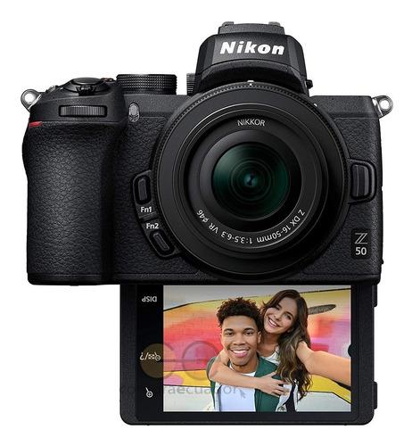 Nikon Cámara Profesional Z50 20.9 Mp Video 4k Pantalla Touch