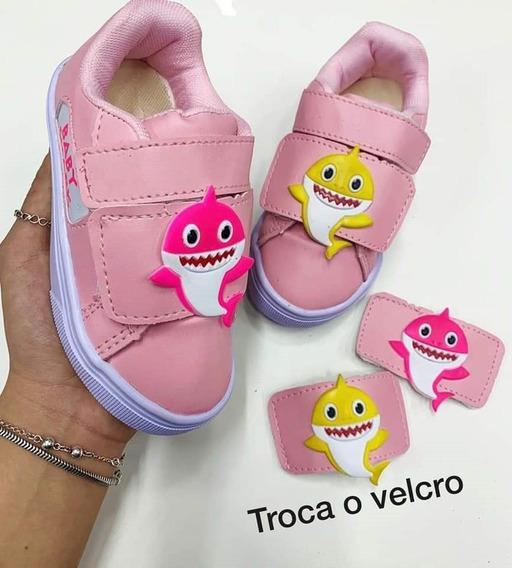 Tenis Baby Shark Bb Infantil 23 Ao 29 - Foto Real - Promoção