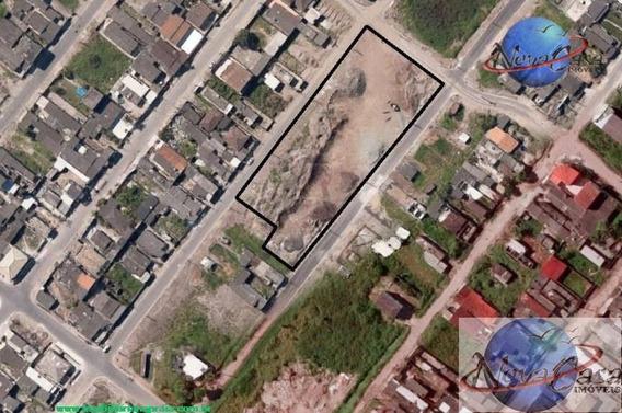 Área Para Galpão Industrial À Venda, Jardim Trevo, Praia Grande. - Ar0001