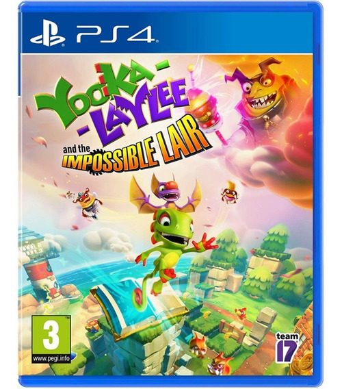 Yooka Laylee And The Impossible Lair Ps4 Mídia Física Novo