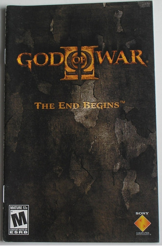 Manual Do Jogo God Of War 2 Ps2 Original Usado