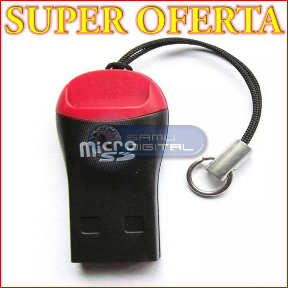 Lector De Memoria Micro Sd Adaptador Usb Tip Pendrive 2.0 X2